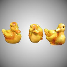 Vintage 3 Duck Figurines Goebel with West Germany Mark 1972 Good Condition