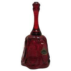 Vintage Fenton Ruby Red Bell 1980s Good Condition