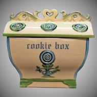 Vintage Nelson McCoy Cookie Jar Cookie Box/Jewel 1963