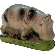 Vintage Ceramic Advertisement Shaker Glen Oak Park Zoo 1960s Good Condition