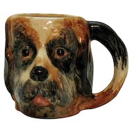 Vintage St. Bernard Ceramic Cup 1950s Good Condition