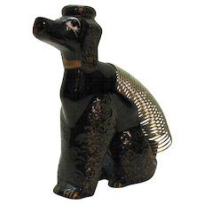 Vintage Poodle Dog Letter Holder/Pen/Candle Holder 1950s Good Condition
