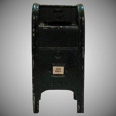 Vintage US Mail Metal Still Bank 1950-60s