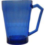Vintage Hazel Atlas Cobalt Blue Honeycomb Pattern Depression glass 1930s Good Condition