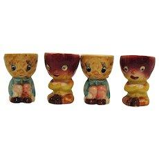 Four Vintage 1950s Ceramic Egg Cups Good Condition