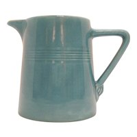 Vintage Homer Laughlin Harlequin 22 Ounce Pitcher Turquoise Color 1936-64 Good Condition