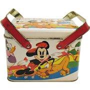 Vintage Disney Metal Lunchbox/Picnic Basket 1970s