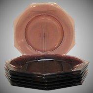 Vintage 7 Hazel Atlas Moroccan Amethyst Dinner Plates 1960s Good Condition