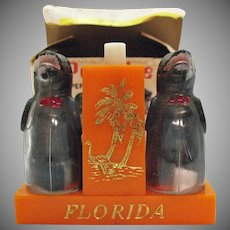Vintage Porpoises Souvenir S&P Shakers Florida 1950s Original Box