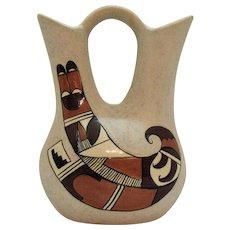 Vintage American Indian Clay Pottery Wedding Vase 1980s Good Condition