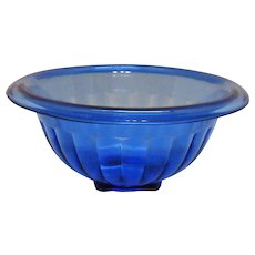 Vintage Hazel Atlas Cobalt Blue Depression glass Bowl Good Condition.