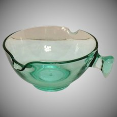 Vintage Uranium Glass Mixing Bowl by D&B Co. 1920-30s Good Condition
