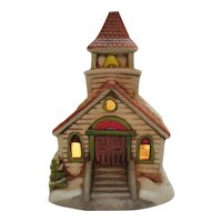 Vintage Lefton Colonial Village Christmas Village Display or Night Light 1980s Good Condition