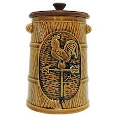 Vintage Enesco Ceramic Cookie Jar Rooster Motif 1960-70s Good Condition