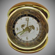 Vintage 1950s Westclox World Time Travel Alarm Good Working Condition
