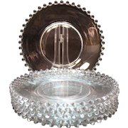 Vintage 7 Imperial Candlewick 8 ¼ inches crystal Salad Plates Pattern #3400/400 1936-84 Good Condition