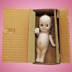 Vintage Shackman Bisque Porcelain Kewpie Doll Original Box 1950-60s Good Condition