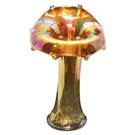 Vintage Imperial Carnival Glass #284 8 Paneled Vase Marigold/Iridescent Color 1920-30s Good Condition