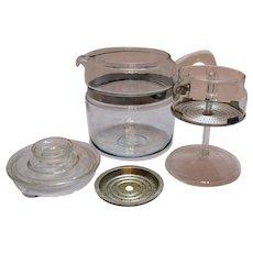 Vintage Pyrex 6 Cup Coffee Pot 1950s Good Condition