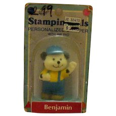 Vintage Benjamin Name Ink Stamp 1970-80s Original Package Good Condition