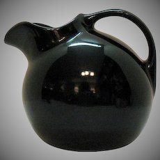 Vintage Eva Zeisel Design Tomorrow's Classic Satin Black Ball Jug 1950s Good Condition