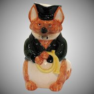 Vintage Fitz & Floyd Ceramic Fox Hunt Pitcher 1986 Good Condition