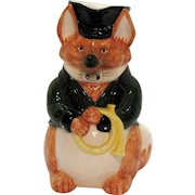 Vintage Fitz & Floyd Ceramic Fox Hunt Pitcher 1986 Good Condition