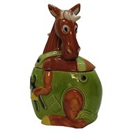 Vintage Working Horse Cookie Jar Made in Japan 1960s Vintage Condition