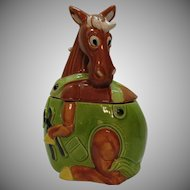 Vintage Working Horse Cookie Jar Made in Japan 1960s Vintage Condition