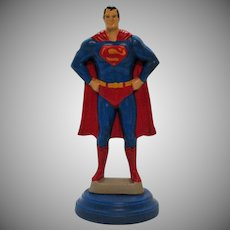 Vintage Ceramic Atlantic Mold 1970s Superman Figure Lamp Base Good Condition