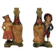 Vintage Porcelain Decanters that Resemble Victorian Kids