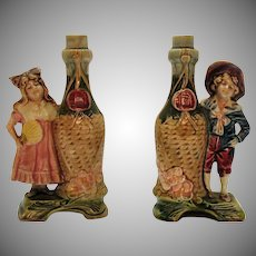 Vintage Porcelain Decanters that Resemble Victorian Kids