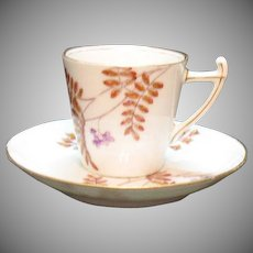 Vintage Demitasse Cup & Saucer BAWO & Dotter Limoges 1896-1900 Good Condition