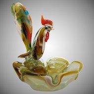 Vintage Murano Rooster Ashtray 1960s Good Condition