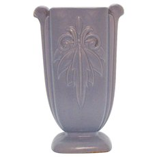 Vintage Unmarked Shawnee Matte Blue Vase USA 1937-1961 Vintage Condition