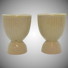 Vintage Two Ceramic Double Egg Cups 1930-40s Good Condition