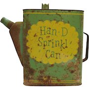 Vintage Han-D Sprinkl Can Watering Can Steel Metal 1950s Good Vintage Condition