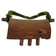 Vintage Antique Wooden Cow Bell 1880s to Early 1900s Good Condition