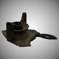 Very Unusual Vintage Cast Iron Candle Holder Late 1800s to early 1900s Good Condition