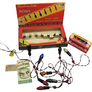 Vintage Noma 1939 Box of Christmas Stringer Lights C7 ½ Bulbs Works