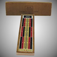 Vintage Bonus Cribbage Board 1959 Original Box Good Condition