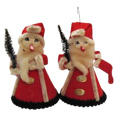 Vintage Hand Made Christmas tree Ornaments 1950s Good Condition