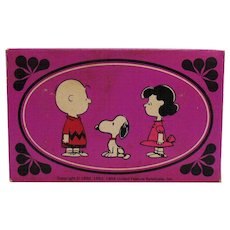 Three Vintage Soaps Avon Charlie Brown & Friends 1970 Original Box