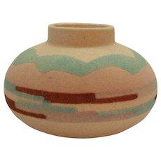 Vintage Navajo Indian Sand Art Vase by Sunwest Indian Art Ltd Signed NM 1970-80s Good Condition