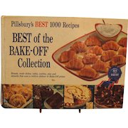 Vintage Pillsbury 1959 Cookbook Best of the Bake-Off 1000 Recipes Good Condition
