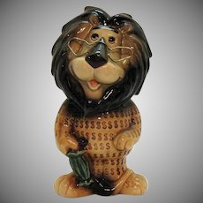 Vintage Lefton Still Bank Hubert the Lion for Harris Bank of Chicago 1962-80 Good Condition