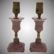 Vintage Lavender Table Lamps 1920-30s Good Condition