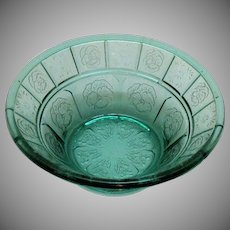 Vintage Depression glass Jeannette Doric & Pansy Fruit/Dessert Bowl 1937-38