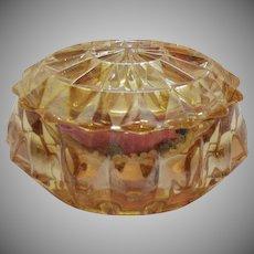 Vintage Jeannette Iridescent Powder Puff Jar 1938-40 Good Condition