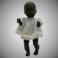 Vintage Black Vinyl Baby Doll 1950-60s Made in Italy Good Condition